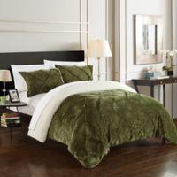 Chic Home Aurelia 3-Piece Queen Comforter Set in Green