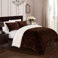 Chic Home Aurelia 3-Piece Queen Comforter Set in Brown