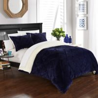 Chic Home Aurelia 3-Piece King Comforter Set in Navy