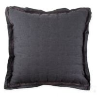 Wamsutta® Vintage Cotton Cashmere Square Throw Pillow in Charcoal