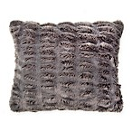 Wamsutta® Vintage Puckered Fur Throw Pillow in Grey