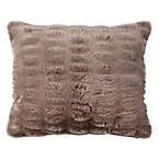 Wamsutta® Vintage Puckered Fur Throw Pillow in Oatmeal