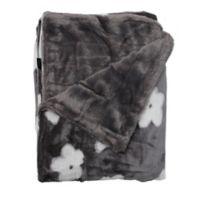 Kensie Lynnia Reversible Throw Blanket in Grey