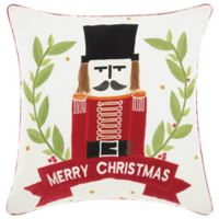 Mina Victory Vintage Nutcracker 18-Inch x 18-Inch Throw Pillow