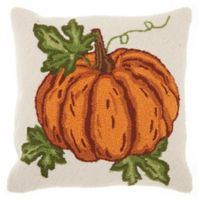 Mina Victory Harvest Pumpkin 18-Inch x 18-Inch Throw Pillow
