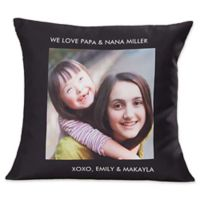 Picture Perfect 18-Inch Square One Photo Throw Pillow
