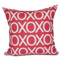 Valentine Square Throw Pillow in Red