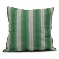 Sea Lines Square Striped Throw Pillow in Green