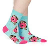 Sock It to Me Snackin' Sloth Women's Crew Socks