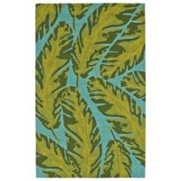 Kaleen Yunque Kauai 2-Foot x 3-Foot Indoor/Outdoor Accent Rug in Blue