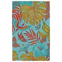 Kaleen Yunque Amazon 3-Foot x 5-Foot Indoor/Outdoor Area Rug in Blue