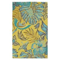 Kaleen Yunque Amazon 5-Foot x 7-Foot 6-Inch Indoor/Outdoor Area Rug in Yellow