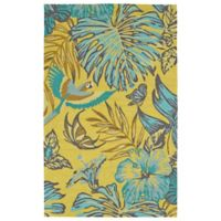 Kaleen Yunque Amazon 8-Foot x 10-Foot Indoor/Outdoor Area Rug in Yellow