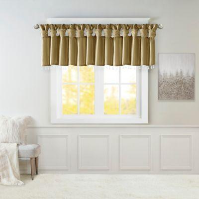 Madison Park Emilia Twisted Tab Room Darkening Window Valance In Bronze
