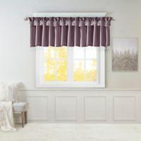 Madison Park Emilia Twisted Tab Room Darkening Window Valance in Purple