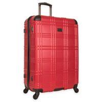 Ben Sherman Nottingham 28-Inch Hardside Spinner Checked Luggage