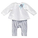 Sweet Heart Rose Size 3-6M Quilted Popover in Ivory/Turquoise
