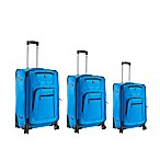 ful Sequential 3-Piece Expandable Suitcase Set in Cobalt