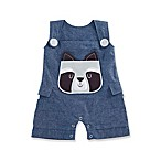 Baby Aspen Forest Friends Size 0-6M Raccoon Romper in Blue