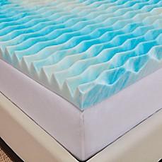 authentic bluewave 2inch memory foam mattress topper