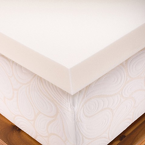 buy authentic comfort dorm 4 inch memory foam twin xl mattress topper from bed bath beyond. Black Bedroom Furniture Sets. Home Design Ideas