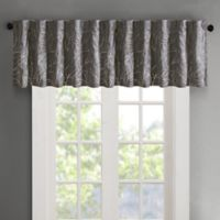 Madison Park Andora Embroidered Rod Pocket/Back Tabs Window Valance in Grey