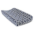 Trend Lab® Hexagon Plush Changing Pad Cover in Navy/White