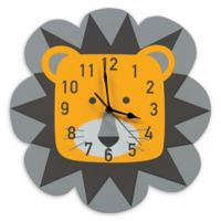 Trend Lab® Lion Wall Clock in Grey/Yellow