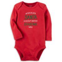 carter's® Size 3M Santa and Grandma Bodysuit in Red