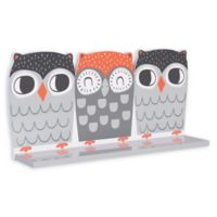 Trend Lab® Olive Owl Wall Shelf in Grey/Coral