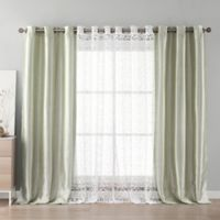 Kensie Leoc 84-Inch Grommet Top Room Darkening Window Curtain Panel Pair in Grey