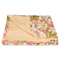 Kantha Cotton Throw in Yellow and Green