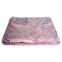 Kantha Cotton Throw in Dusty Rose and Pink