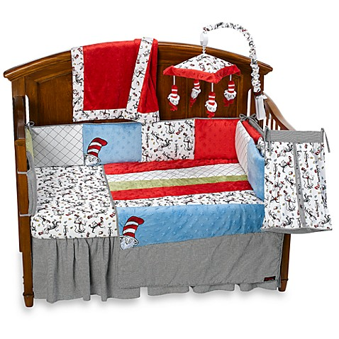 Trend Lab 174 Dr Seuss Cat In The Hat 4 Piece Crib Bedding