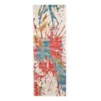 Feizy Girasole Mango Splash 7-Foot 10-Inch x 2-Foot 10-Inch Multicolor Runner