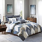 INK+IVY Alpine Full/Queen Comforter Set in Navy