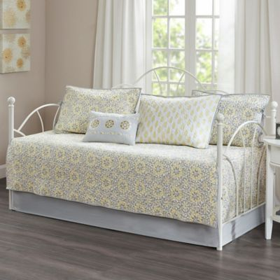 madison park adelaide daybed set in yellow