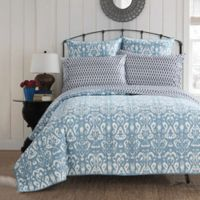 Chic Home Carson Reversible Full/Queen Quilt in Navy
