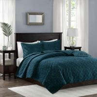 Madison Park Harper Velvet Reversible Full/Queen Coverlet Set