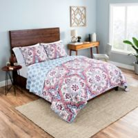 Vue® Bethania King Reversible Quilt Set in Pink