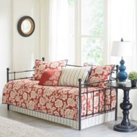 Madison Park Lucy 6-Piece Cotton Twill Printed Daybed Set in Red