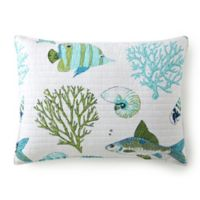 Levtex Home Breakwater Standard Pillow Sham in White/Blue