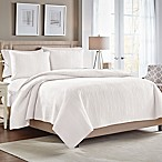 Croscill® Heatherly Reversible King Quilt in White