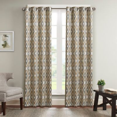 Madison Park Ashlin 100 Inch By 84 Diamond Printed Patio Panel In Taupe