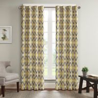 Madison Park Ashlin 100-Inch by 84-Inch Diamond Printed Patio Panel in Yellow