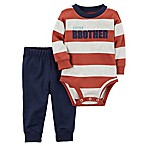 carter's® Size 3M 2-Piece  Little Brother  Bodysuit and Pant Set in Navy