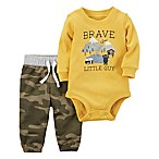 carter's® Size 3M 2-Piece Brave Little Guy Bodysuit and Pant Set