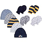 Gerber® Size 0-3M 9-Piece Sports Baby Boy Accessory Set in Grey