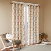 Madison Park Brooklyn 63-Inch Grommet Top Window Curtain Panel in Spice