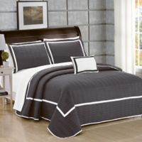 Chic Home Neal Queen Quilt Set in Grey